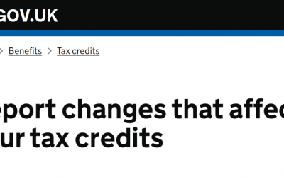 Tax credits – do I have to tell HMRC if my circumstances change?