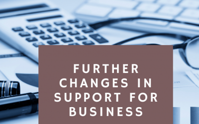 Further changes in Covid19 support of businesses